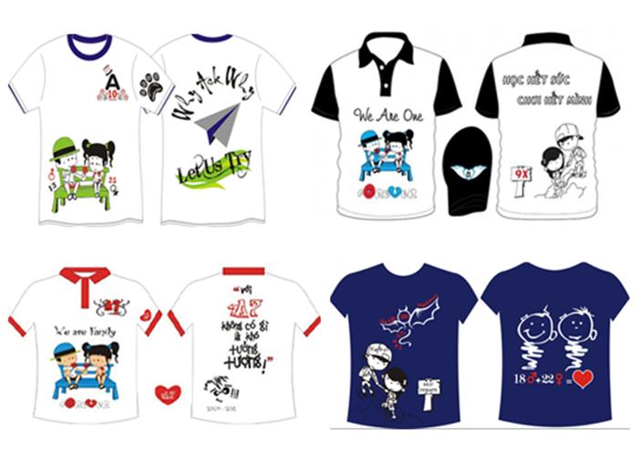 Sản phẩm mẫu áo của học viên