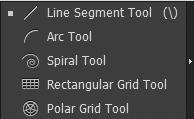 Công cụ vẽ đường cơ bản