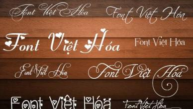 Cài đặt font chữ Việt hóa như thế nào?