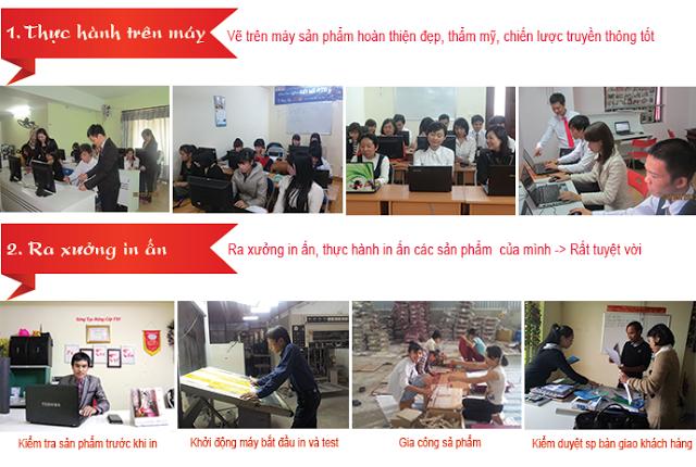 Học thiết kế đồ họa ở Tân Bình. Học như làm thực tế