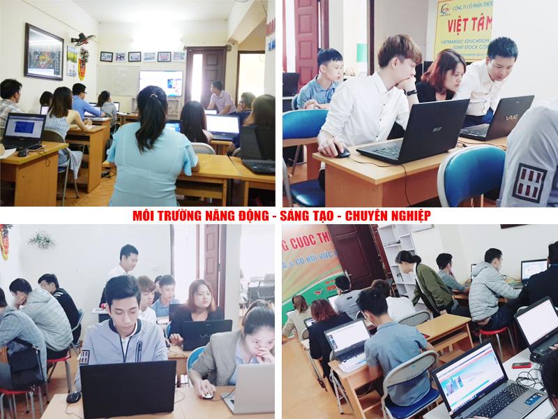 Môi trường học tập Photoshop tại TPHCM